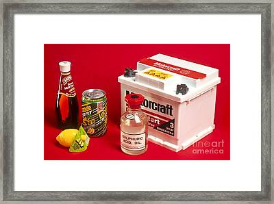 Household Uses Of Acids Framed Print by Martyn F. Chillmaid