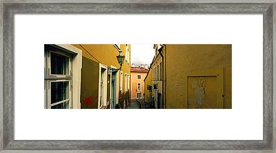 Houses Along A Street, Toompea Hill Framed Print by Panoramic Images
