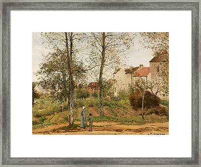 Houses At Bougival Framed Print