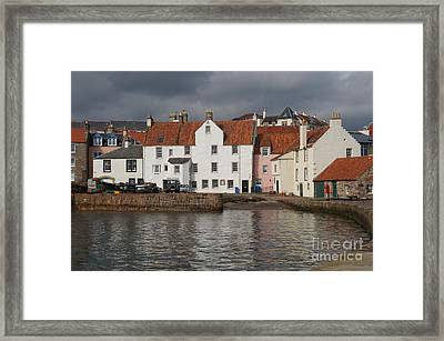 Houses At Pittenweem Harbor Framed Print