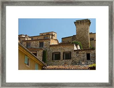Houses At The Top Of The Hill Framed Print by Bob Phillips