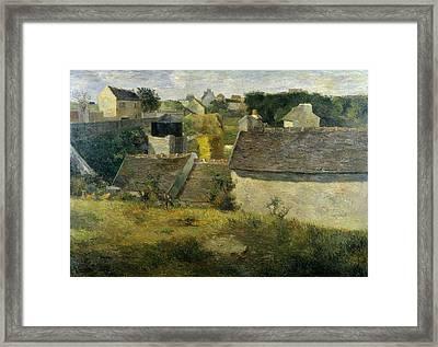 Houses At Vaugirard, 1880 Framed Print