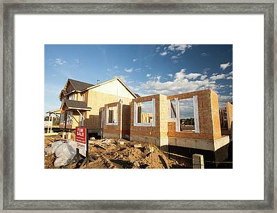 Houses Being Built Framed Print by Ashley Cooper