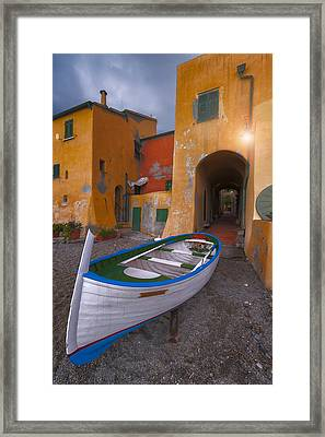 Houses By The Sea 4 Framed Print by Giovanni Allievi