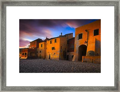 Houses By The Sea 5 Framed Print by Giovanni Allievi