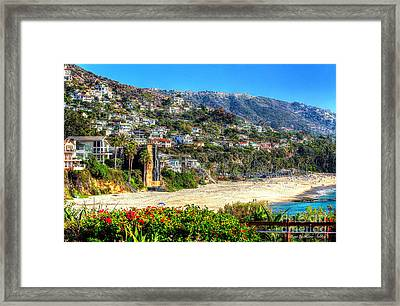 Houses By The Sea Framed Print