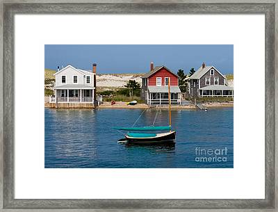 Houses By The Water Framed Print