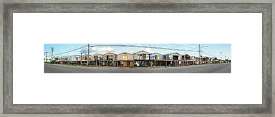 Houses Destroyed After Hurricane Framed Print by Panoramic Images