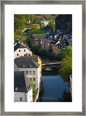 Houses In A Town, Grund, Luxembourg Framed Print by Panoramic Images