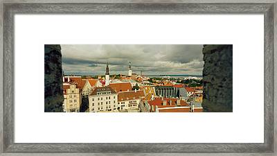 Houses In A Town, Tallinn, Estonia Framed Print by Panoramic Images