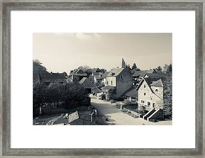 Houses In A Village, Brancion Framed Print