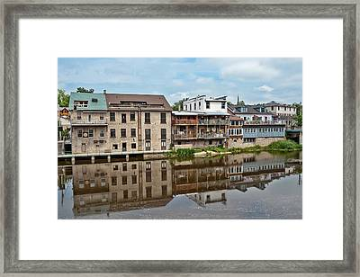 Framed Print featuring the photograph Houses In Elora Ontario by Marek Poplawski