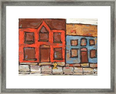 Houses In Portsmouth Framed Print by David Dossett