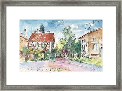 Houses In Soufflenheim Framed Print