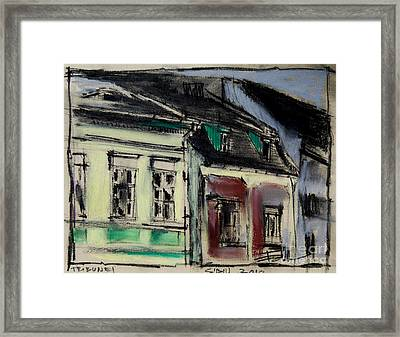Houses In Transylvania 2 Framed Print by Mona Edulesco