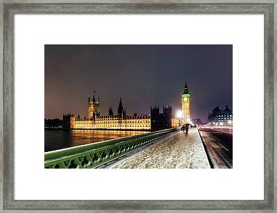 Houses Of Parliament And Big Ben Framed Print by Daniel Sambraus