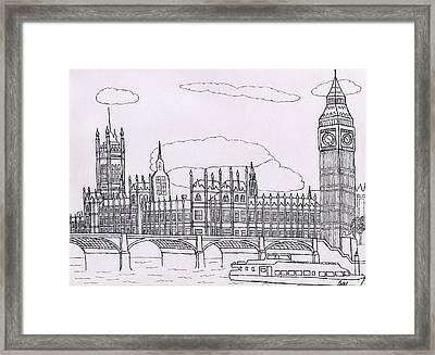 Houses Of Parliament Framed Print by Bav Patel