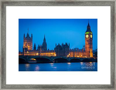 Houses Of Parliament Framed Print by Inge Johnsson