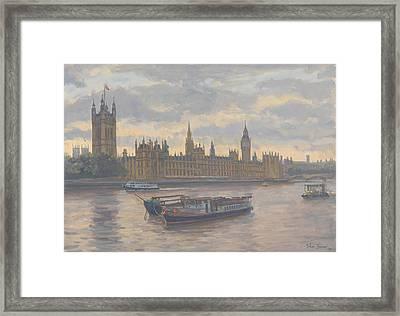 Houses Of Parliament Framed Print by Julian Barrow