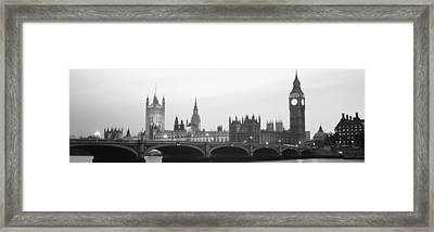 Houses Of Parliament Westminster Bridge Framed Print by Panoramic Images