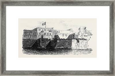 Houses Of The English And French Consuls At Rabat In Morocco Framed Print by Moroccan School