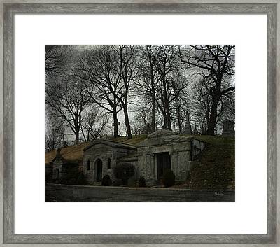 Houses Of The Holy Framed Print by Cynthia Lassiter