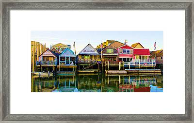 Houses On Cape May Harbor Framed Print
