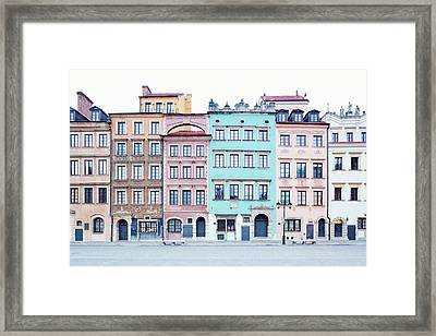 Houses On Old Town Market Place Framed Print by Jorg Greuel
