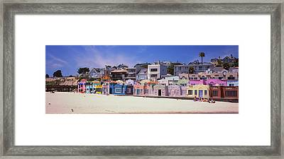 Houses On The Beach, Capitola, Santa Framed Print by Panoramic Images