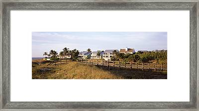 Houses On The Beach, Gasparilla Island Framed Print by Panoramic Images