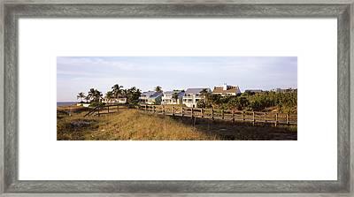 Houses On The Beach, Gasparilla Island Framed Print