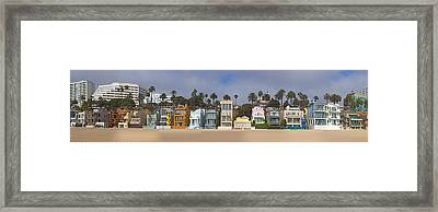 Houses On The Beach, Santa Monica, Los Framed Print by Panoramic Images
