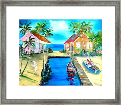 Houses On The Canal Framed Print