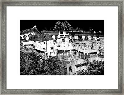 Houses On The Hill Framed Print by John Rizzuto