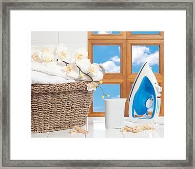 Housework Concept Framed Print by Amanda Elwell