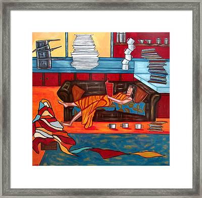 Housework Framed Print by Sandra Marie Adams