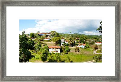 Housing For Residents At Las Terrazas Framed Print