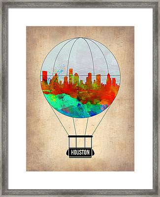 Houston Air Balloon Framed Print