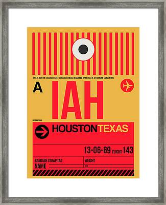 Houston Airport Poster 1 Framed Print by Naxart Studio