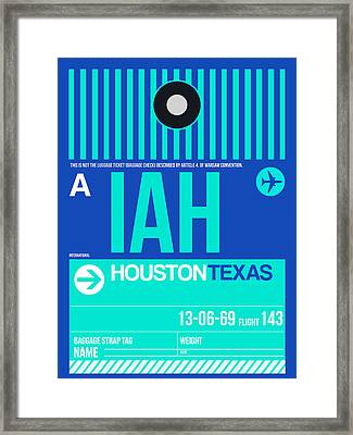 Houston Airport Poster 2 Framed Print by Naxart Studio