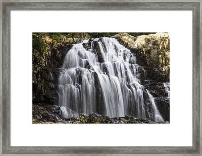 Houston Brook Falls Framed Print