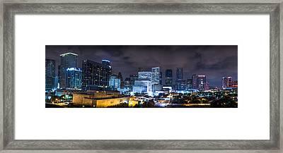 Houston City Lights Framed Print by David Morefield