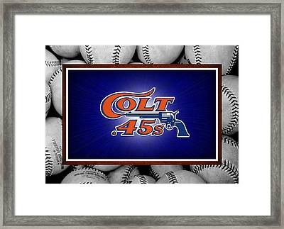 Houston Colt 45's Framed Print by Joe Hamilton