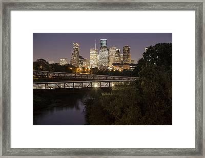 Houston Crosswalk Framed Print