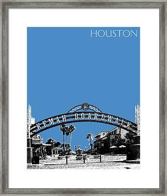 Houston Kemah Boardwalk - Slate Framed Print