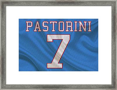 Houston Oilers Dan Pastorini Framed Print by Joe Hamilton