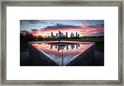 Houston Police Memorial Framed Print
