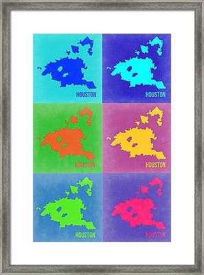 Houston Pop Art Map 3 Framed Print