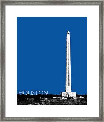 Houston San Jacinto Monument - Royal Blue Framed Print
