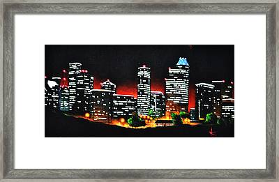 Houston Skyline Framed Print by Thomas Kolendra